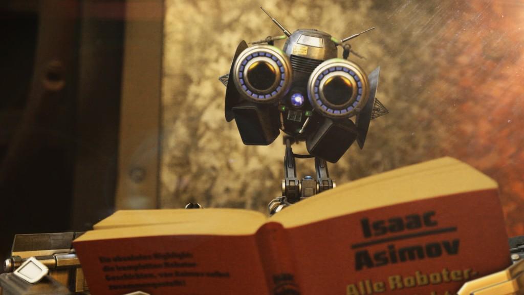 """Der Roboter """"Arnold"""" in """"Furple Reign"""""""